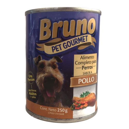 Bruno Alimento Humedo para Perros - Sabor a Pollo
