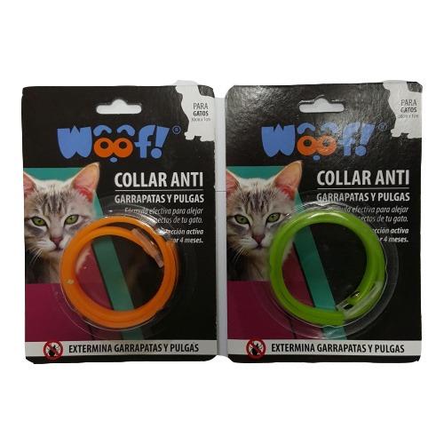 Woof collar anti garrapatas y pulgas para gatos