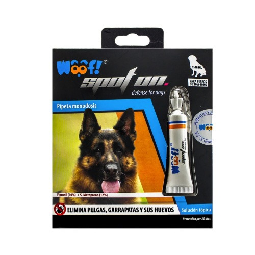 Woof Pipeta Monodosis Spot On, 2.68ml - Perros de 20 a 40kg