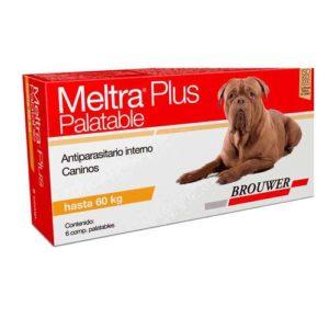 ANTIPARASITARIO BROUWER MELTRA PLUS PALATABLE X 6 COMPRIMIDOS