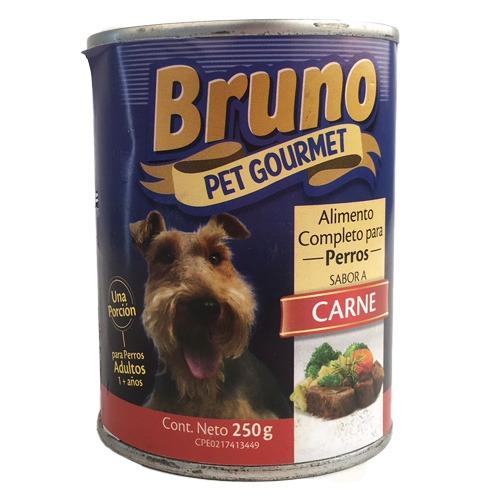 Bruno Alimento Humedo para Perros - Sabor a Carne