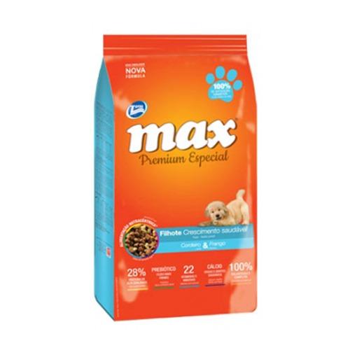 max alimento de pollo para cachorros