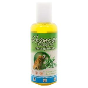 Pet Care Shampoo pulguicida y garrapaticida canino